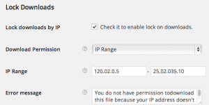 Lock Downloads By IP-backend
